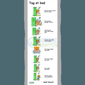 Træningspiktogrammer for autister, Badrutine dreng