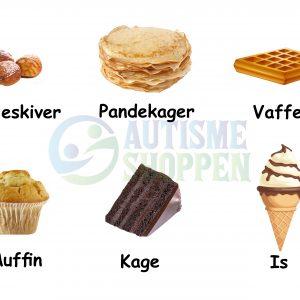 Piktogrammenu: Desserter med danske tekster