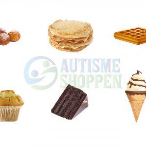 Piktogrammenu: Desserter uden tekster