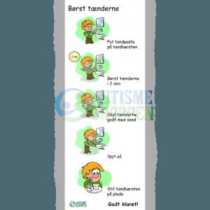 Træningspiktogrammer for autister, Børst tænderne, dreng