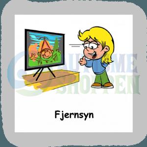 Piktogram med daglige rutiner til autister: se fjernsyn, pige