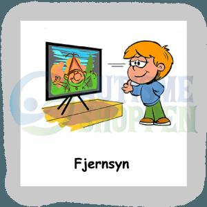 Piktogram med daglige rutiner til autister: Se fjernsyn, dreng