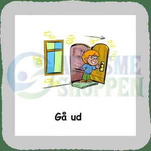 Piktogram med daglige rutiner til autister: Gå ud, dreng