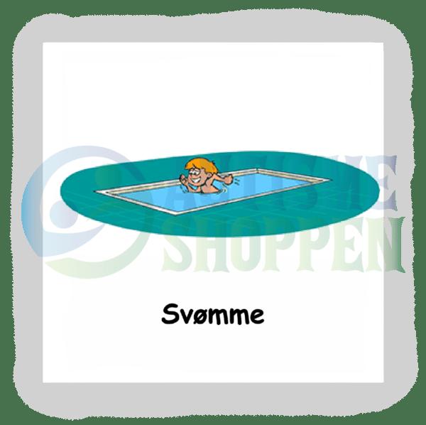 Piktogram med daglige rutiner til autister: svømme, dreng