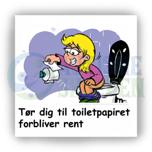 Piktogram med daglige rutiner til autister: Tør dig til toiletpapiret er rent, pige