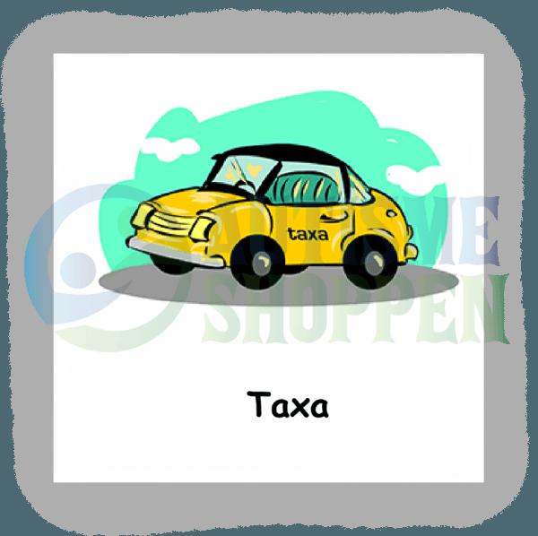 Piktogram med daglige rutiner til autister: Taxa