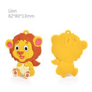 Bidesmykke/tyggehalskæde med løve i ren silikone