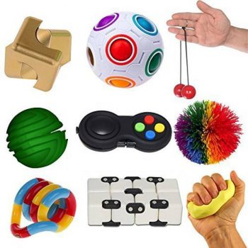 sensorisk legetøjssæt med 9 genstande