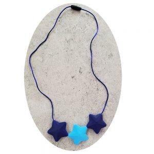 Bidehalskæde dreng eller pige, blå-lyseblå
