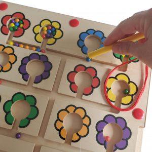 Magnetisk labyrint lær farverne
